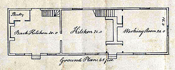 Ground plan of the parish workhouse 1790 [W2/17]